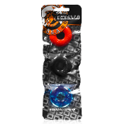 Oxballs Ringer Small Cockring 3 Pack Multicolor